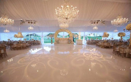 Wedding dance floor & lighting