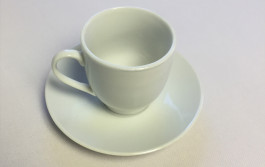white cup plate