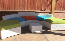 White Outdoor Furniture Rental