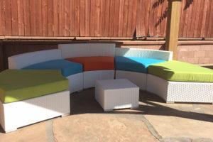 White Outdoor Furniture Rental