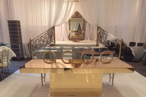 gold table and chair rentals