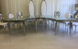 half moon head table & chairs