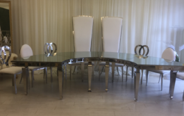half moon head table