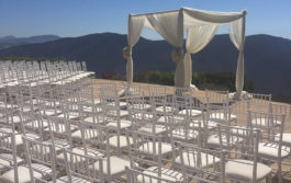 white chairs rental