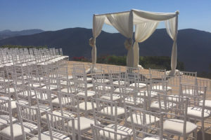 white chairs rental