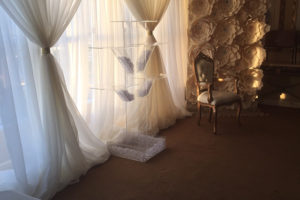 pipe and drape decoration