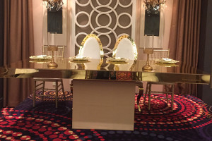 Gold table and chair decoration